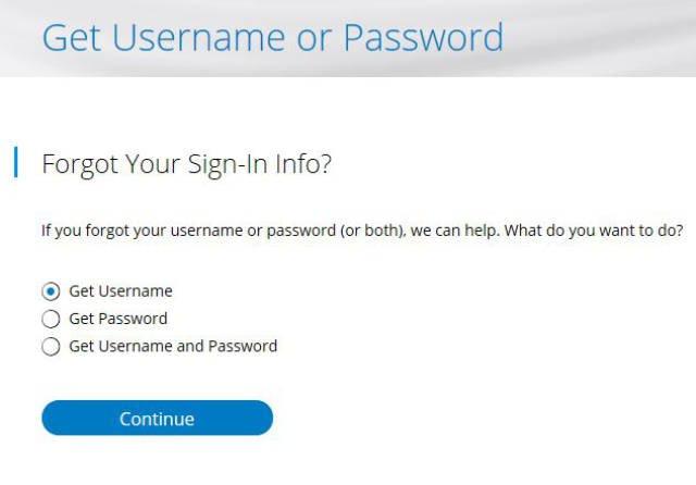 Charter.net forgot username or password form
