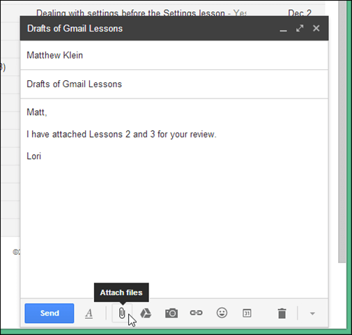 how to add attachment to gmail